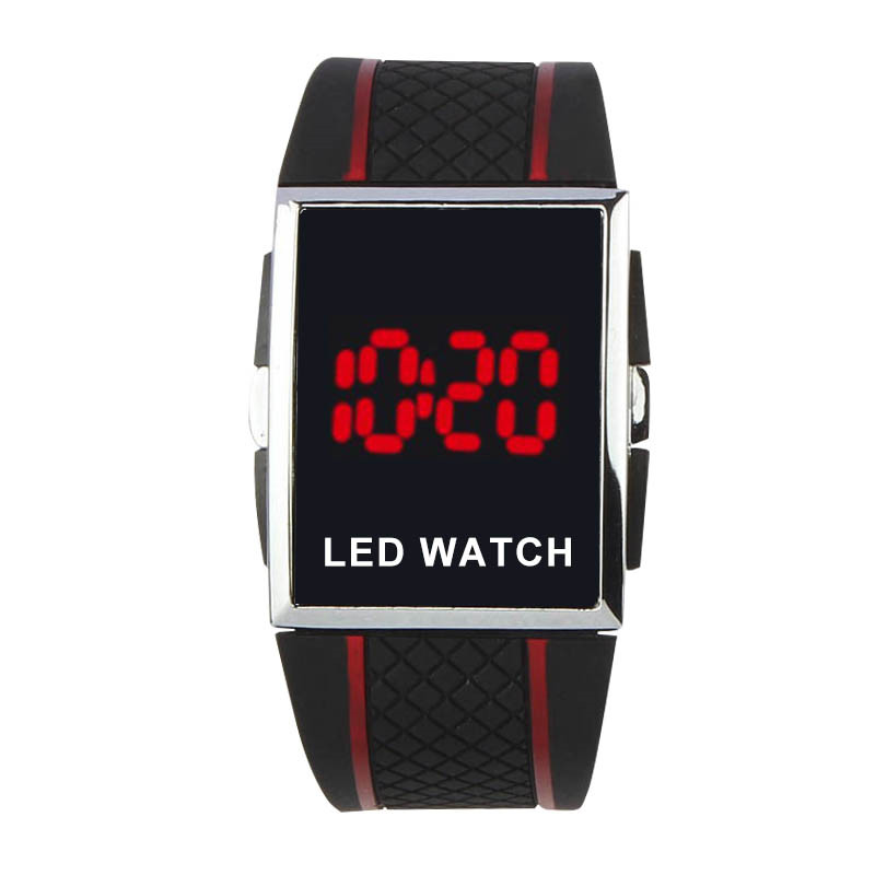 New Fashion Men Digital Watches Men Sports Watches Rubber Band Electronic Watch Square Dial Watch Relogio Digital Masculino 2019