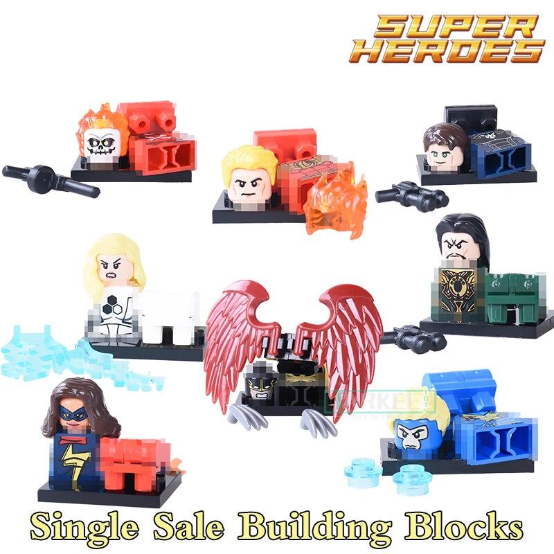 Здание Конструкторы pg8065 Хавок ударной волны Thunderbolt Wonder Woman Super Hero StarWars действие кирпич Дети DIY Игрушечные лошадки хобби рисунках