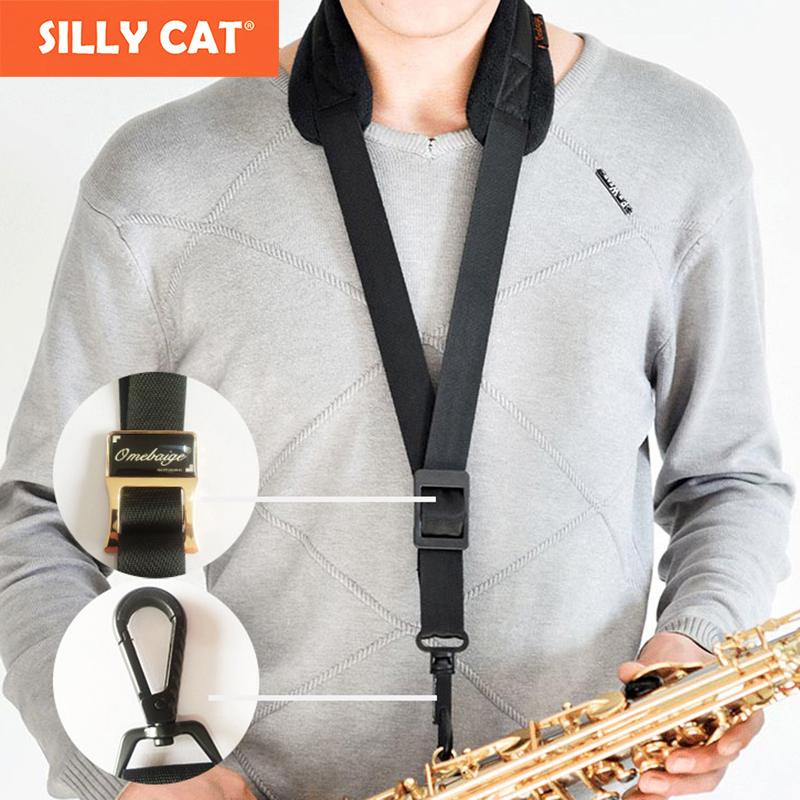 1 piece Metal lock hook Sax Strap Saxophone Neck Strap Harness Sax neck Strap for YAMAHA for SELMER Alto Tenor Saxophone excellence 3 pcs alto tenor baritone saxophone neck great material