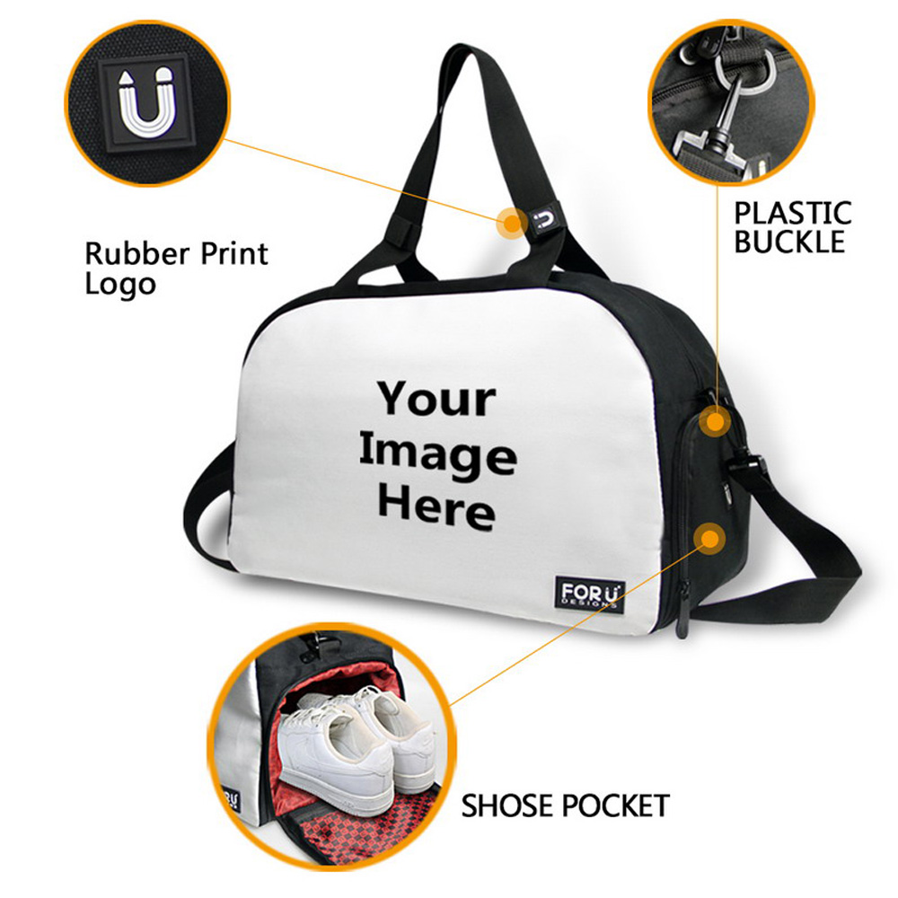 FORUDESIGNS Cute Dogs Printing Gym Bag Women Fitness Outdoor Shoulder Bag  Sport Animal Duffle Bag Multifunction for Unisex-in Gym Bags from Sports ... c8b9367e71feb