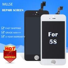 Pantalla LCD de 10 unids/lote a la venta para Iphone 5S 5c 5g con montaje de digitalizador con Pantalla táctil de repuesto alta Pantalla clon envío gratuito DHL