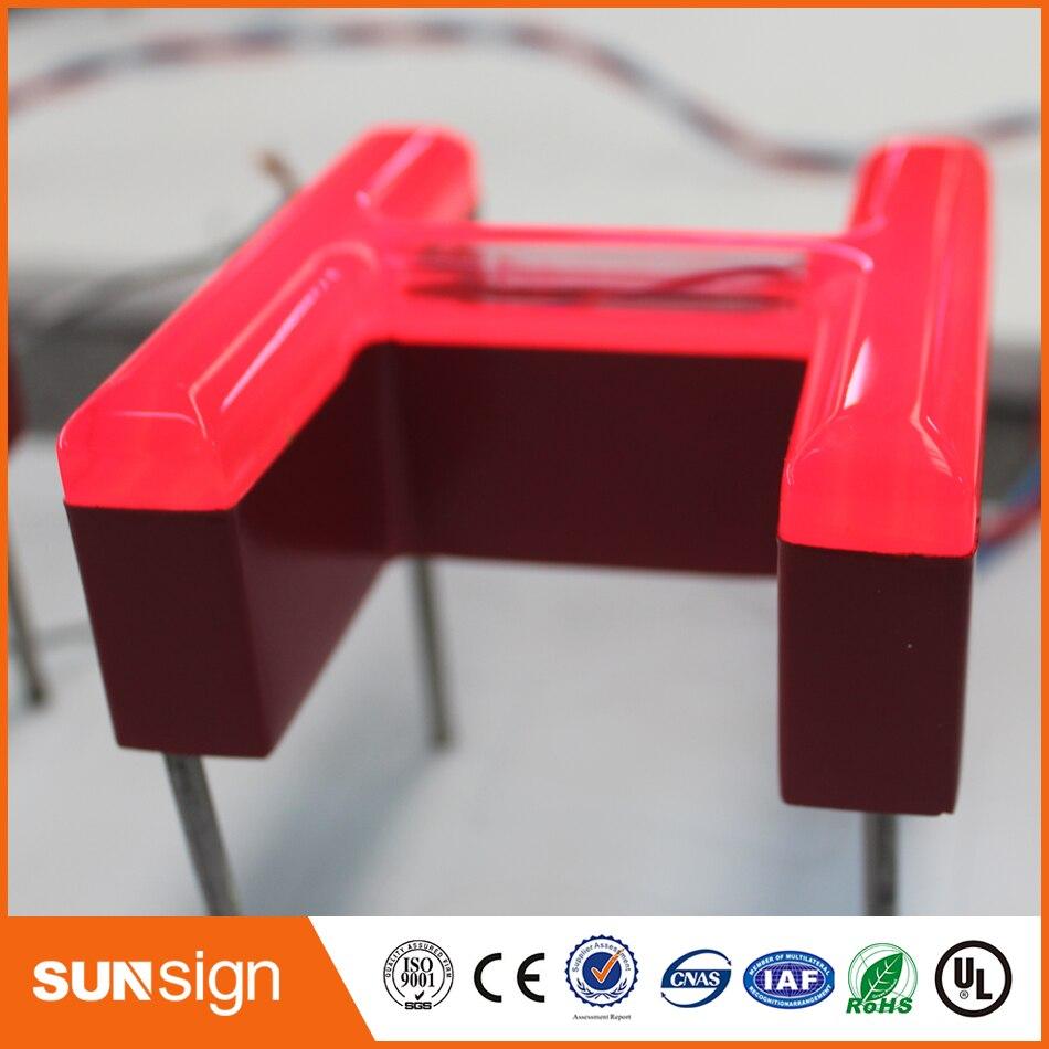 Custom Outdoor Frontlit Led Lighting 3d Letter Signage