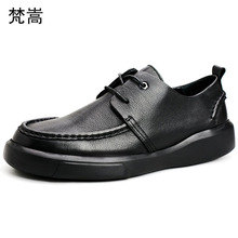 цены Genuine Leather Shoes Men Lace-Up Business Men Shoes designer shoes men high quality cowhide casual shoes spring autumn