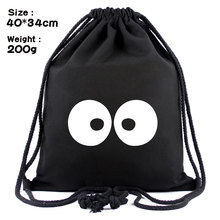 Anime Cartoon My Neighbor Totoro Drawstring Backpack Cool Men Women Shoulder Bag Travel Rucksack