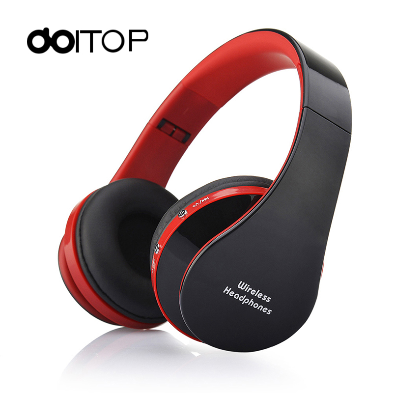 DOITOP Wireless BT Headphones Stereo Foldable Sport Earphone With Microphone Headset Running Earphones For Phone qkz c6 sport earphone running earphones waterproof mobile headset with microphone stereo mp3 earhook w1 for mp3 smart phones