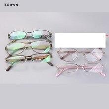 Little quantity Mix wholesale Women Spectacle metal Eyeglasses Frame full rim green pink half unisex Myopia Prescription glasses