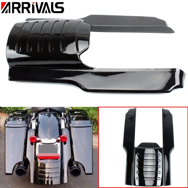 Motorcycle parts Mudguard Extension 7 Rear Fender Extension Stretched Filler for Harley Touring Street Road Glide 1996-2008 2007 2006 2005 2004 2003 2002 2001