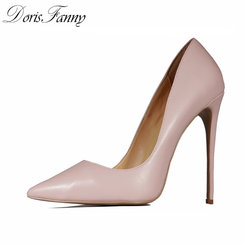 DorisFanny Pink womens shoes heels office lady wedding shoes stiletto high heels large and small size sexy pumps dorisfanny brown orange red pointy stiletto celebrity shoes high heels china factory direct sale size 42 44 45