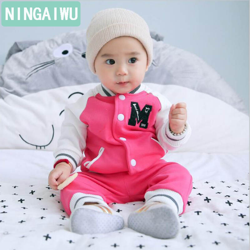baby sets spring autumn unisex clothes baby boys  girls sport suit kids long-sleeved coats + pants children's  for 4 - 24 months new boys girls clothing set autumn children suit long sleeved fashion shirts coats pants for christmas gift kids dress clothes