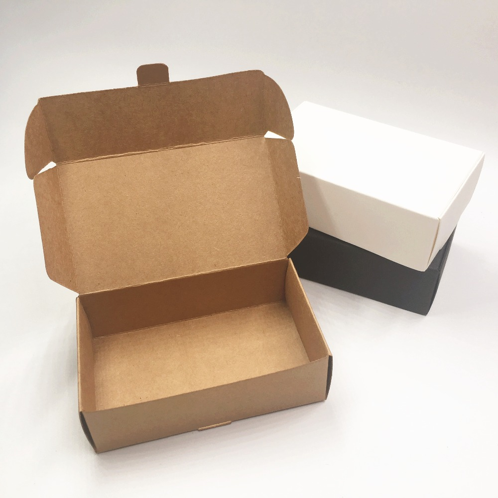 24pcs Kraft Paper Aircraft Gift Boxes 11.5*7*3.5cm Blank Packaging Box Handmade Jewelry Carrying/Wedding/Party Candy Boxes