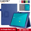 Case for Google Pixel C, GARUNK Luxury PU Leather with Hand hlod Card Holder Full Body Protection Stand Cover for Google Pixel C