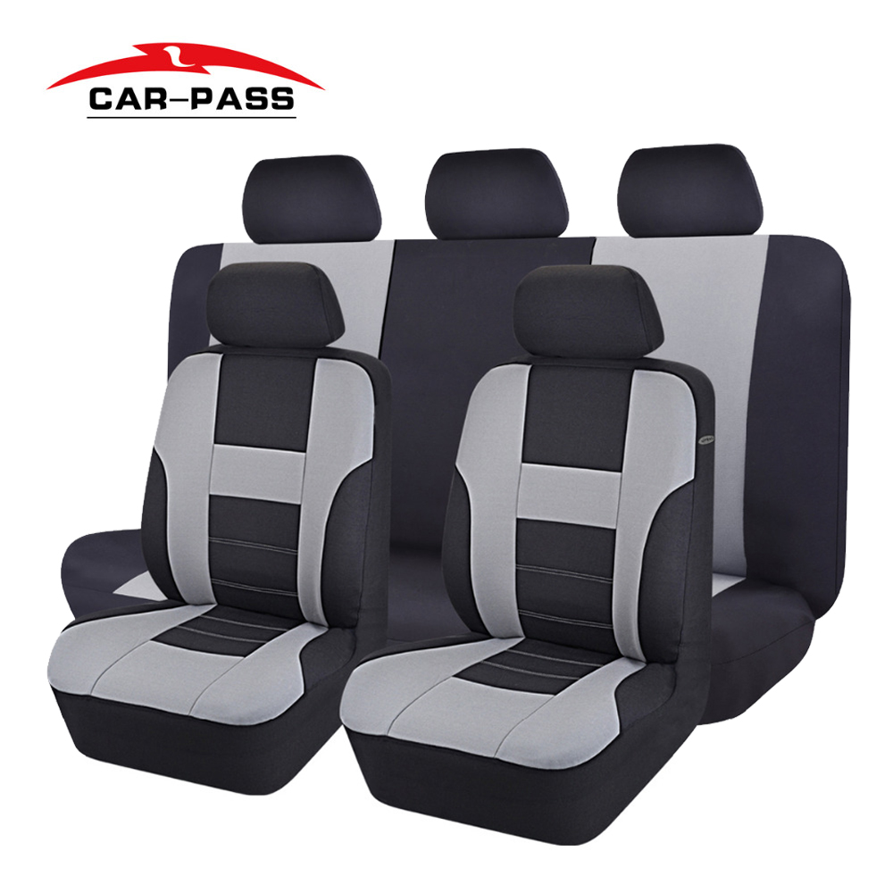 Car-pass Universal Car Seat Covers Gray Black Blue Beige Automotive Seat Cover Fit For Lada Toyota Kalina Fit Most Vehicles ...