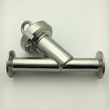 Sanitary stainless steel 304 Y type filter oblique plug-in pipe sanitary welding filter angle inclined plug pipe filter element fit 32mm 1 25 pipe od welding sus304 sanitary y type strainer filter home brew wine