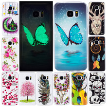 SuliCase S5 S6 S7 Edge G935f Case Luminous Cartoon Anime Soft Silicone TPU Back Cover Case for Samsung Galaxy S6 Edge S7 S7Edge цена 2017