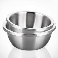 304 de acero inoxidable cuenca sopa de olla de cocina para hornear profundizar más grueso huevo tazón placa