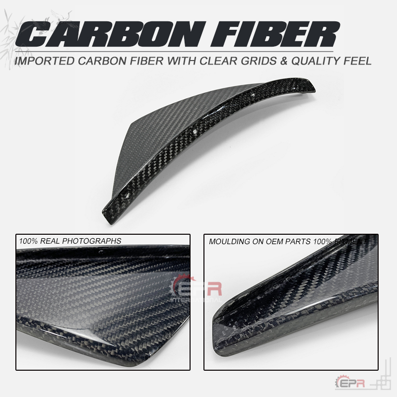 Car Accessories MX5 Carbon Fiber Front Bumper Canard Verus Style Glossy Finish VE ND Side Splitter Part For Mazda MX5 Miata ND|Bumpers| |  - title=