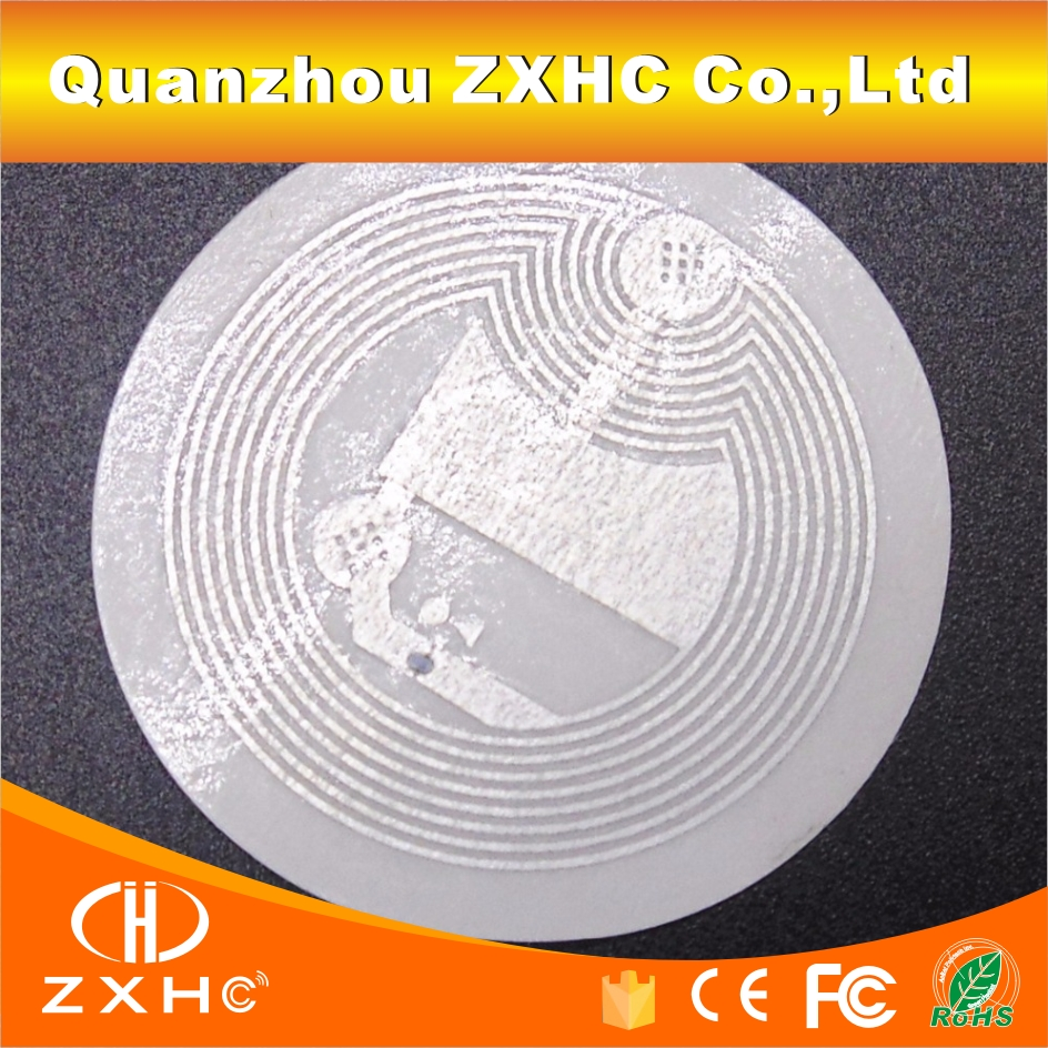 (50PCS/LOT) 25mm Ntag 213(203)  White NFC Stickers Tags Protocol ISO14443A For All NFC Phones In Payment or Other Conditions