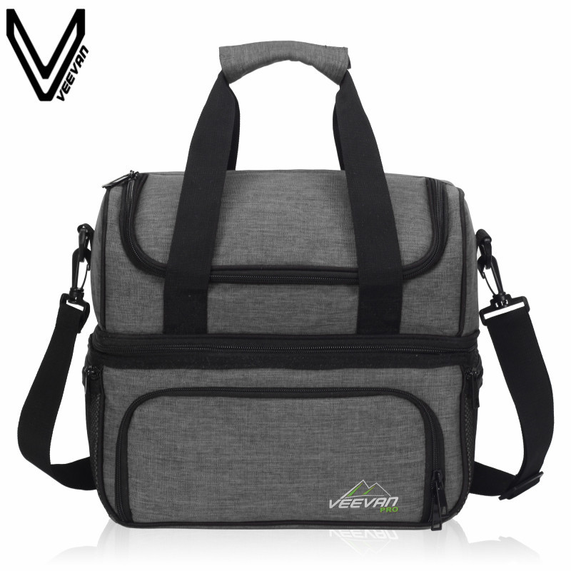 2017 Insulated Lunch Cooler Bags For Food Family Function Waterproof Picnic Bag Large Storage Shoulder Bag Tote Messenger Bags