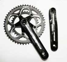 FAS 9S 50 34 T 165 مللي متر دراجة كرانسيت نك الألومنيوم 110 BCD الطريق دراجة كرنك سلسلة عجلة
