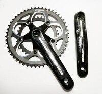 Fas 9 s 50 34 t 165 mm de alumínio cnc 110 bcd bicicleta estrada manivela roda corrente|Correia da bicicleta| |  -