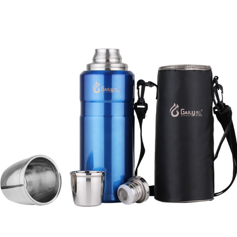304 Stainless Steel insulated Thermos Bottle 1L~2L Bullet Thermo cup Travel Coffee Mugs Thermal vaccum water bottle Thermal cup-in Vacuum Flasks & Thermoses from Home & Garden    1