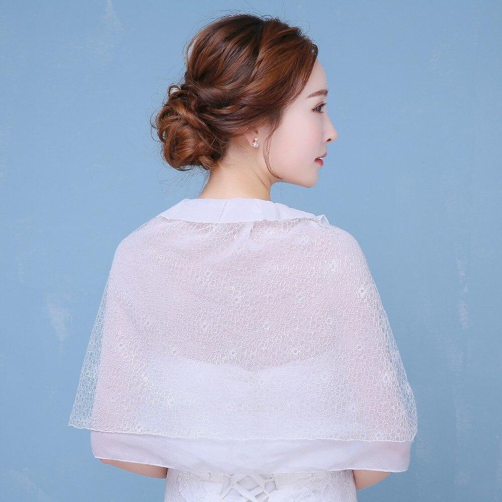 2017 Summer White Wedding Jacket Lace Chiffon Bohemia Shawl Bridal ...