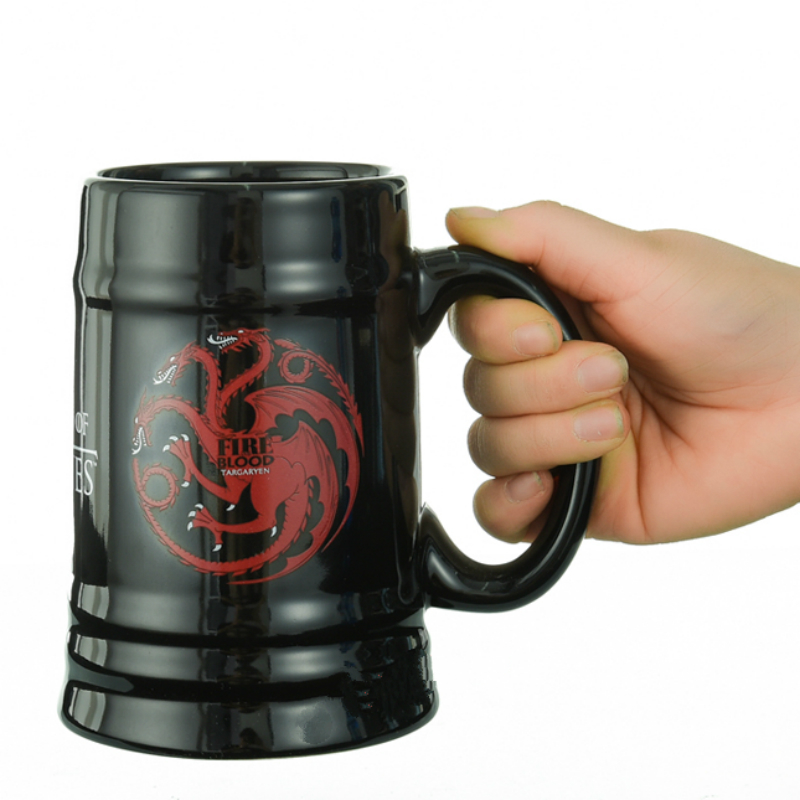 600ml High Capacity A Song Of Ice And Fire Game Of Rights Ceramic Mug Coffee Tea Milk Hot Water Cup Drinkware Christmas Gift ...