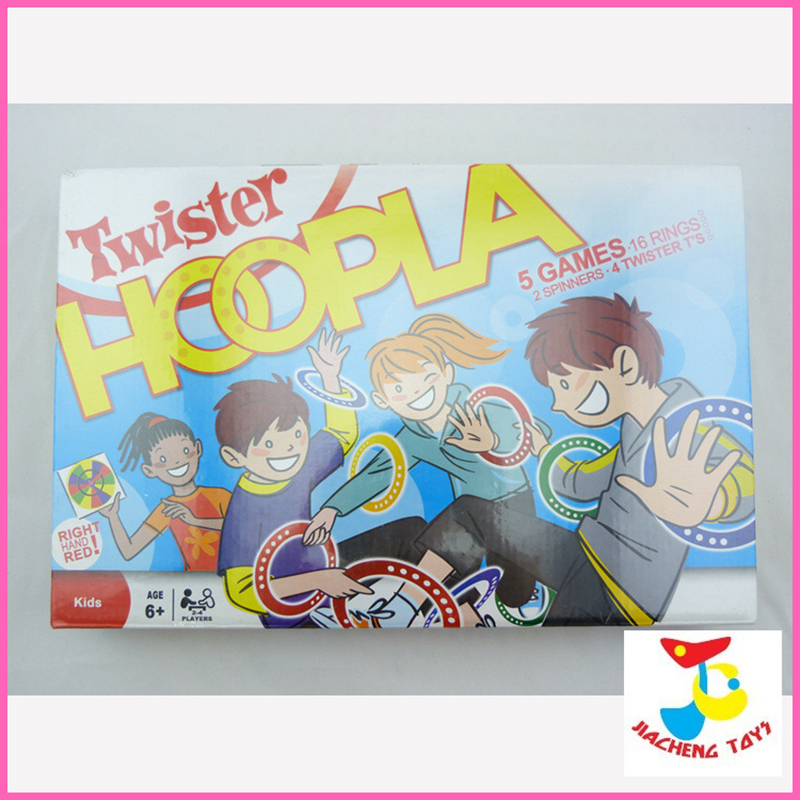 Twister HOOPLA 5 Games(2SPINNERS + 4 TWISTERS) 16 Rings Twister Party Game/Party Toy Intelligence Game