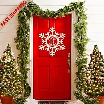 Snowflake Monogram hanging, Wooden Snowflake Monogram, DIY Wooden Snowflake Door Hanger, DIY Wood Door Hanger,Wall Decoration фото