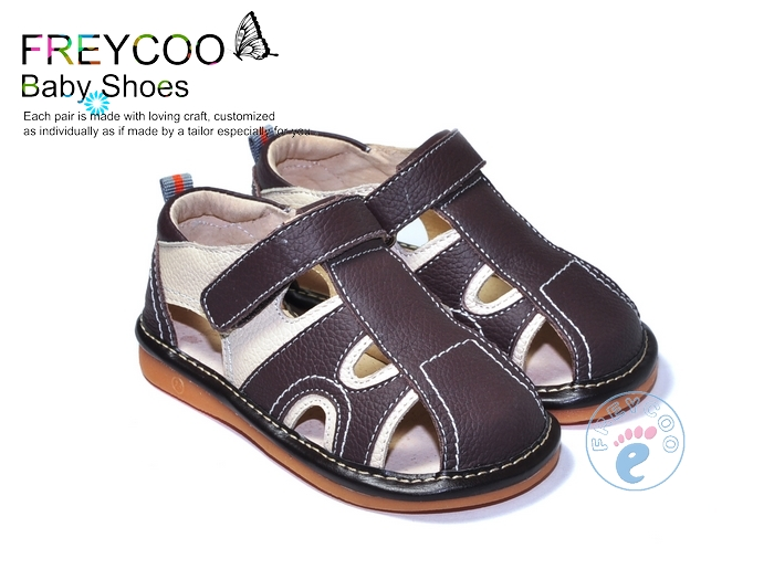 Boys leather sandals shoes cow muscle slip-resistant outsole toddler shoes baby shoes