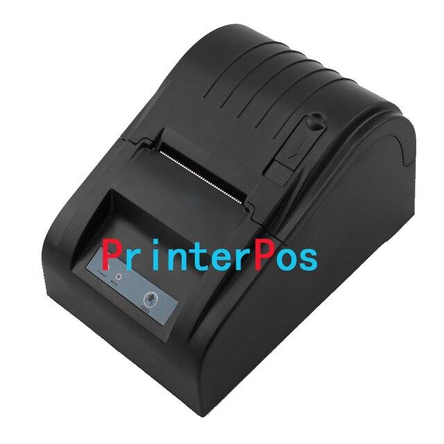 Бесплатная доставка 58 мм Тепловая чековый принтер ZJ-5890T ККМ Мини принтер USB порт Внешнего Источника питания