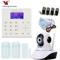 YobangSecurity Wireless WIFI GSM SMS Intruder Burglar Home Alarm System Video IP Camera Door Window Sensor
