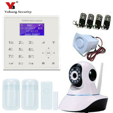 YobangSecurity Wireless WIFI GSM / SMS Intruder Burglar Home Alarm System Video IP Camera Door Window Sensor Android IOS APP