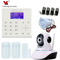 YobangSecurity Wireless WIFI GSM SMS Intruder Burglar Home Alarm System Video IP Camera Door Window Sensor