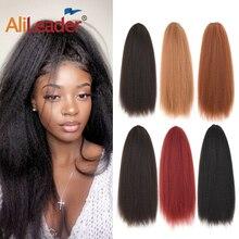 """AliLeader 2"""" Длинные Синтетические вьющиеся прямые конский хвост термостойкие волосы для наращивания с расческой для черный женский хвостик кудрявый парик"""
