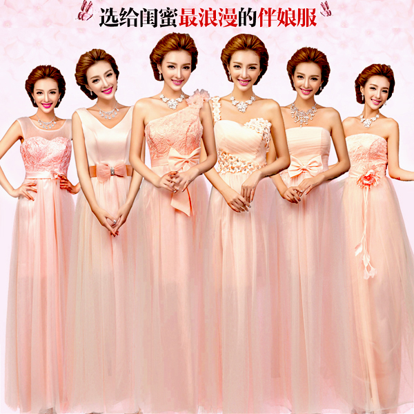 2016 New in stock simple a line chiffon Pink   Bridesmaid     Dresses     Bridesmaid   Bride   Dress   Etiquette Show cheap under $50 1712