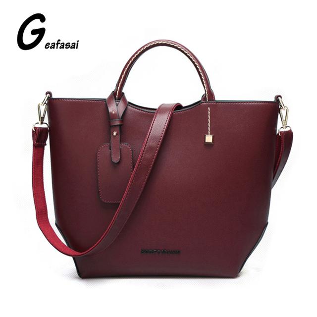 Diseñador de la marca mujeres de las señoras de bolso de hombro asa superior causal bolsas de Color Caqui negro borgoña Minimalista estilo Británico sencilla