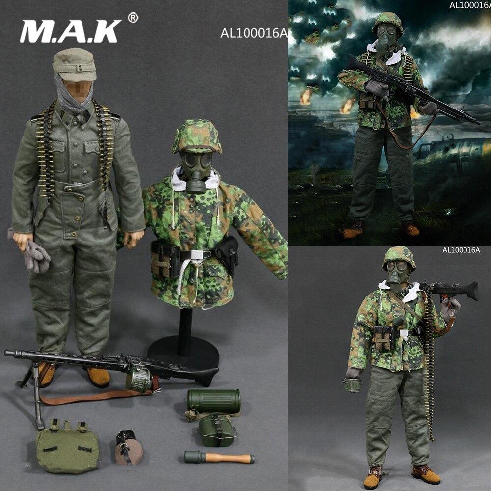 AL100016A 1/6 масштаб мужской одежда для солдат аксессуар Второй мировой войны Германия SS MG42 пулеметчик Set модель для 12 ''фигурку тела