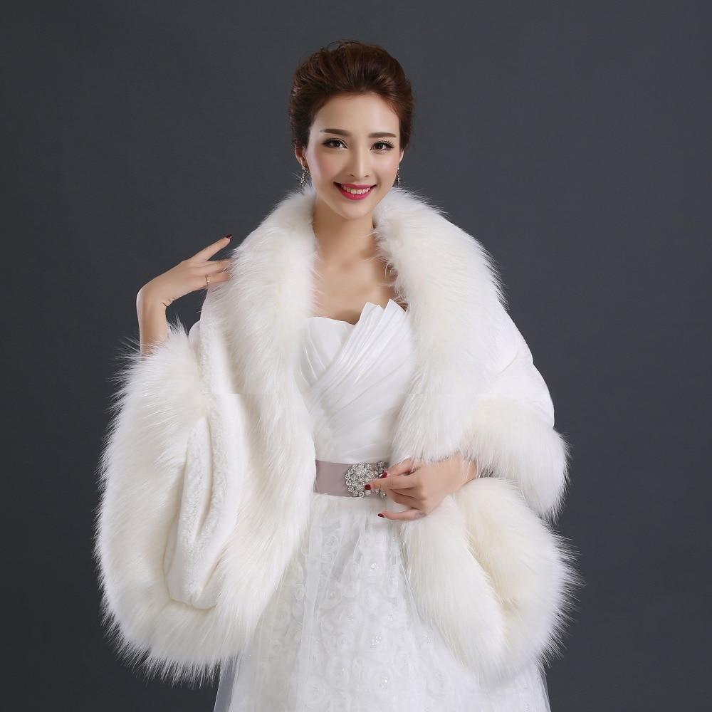 de marie de luxe vestes ivoire chaud fourrure bolro mariage wrap haute qualit bolro en fausse - Bolero Fourrure Mariage