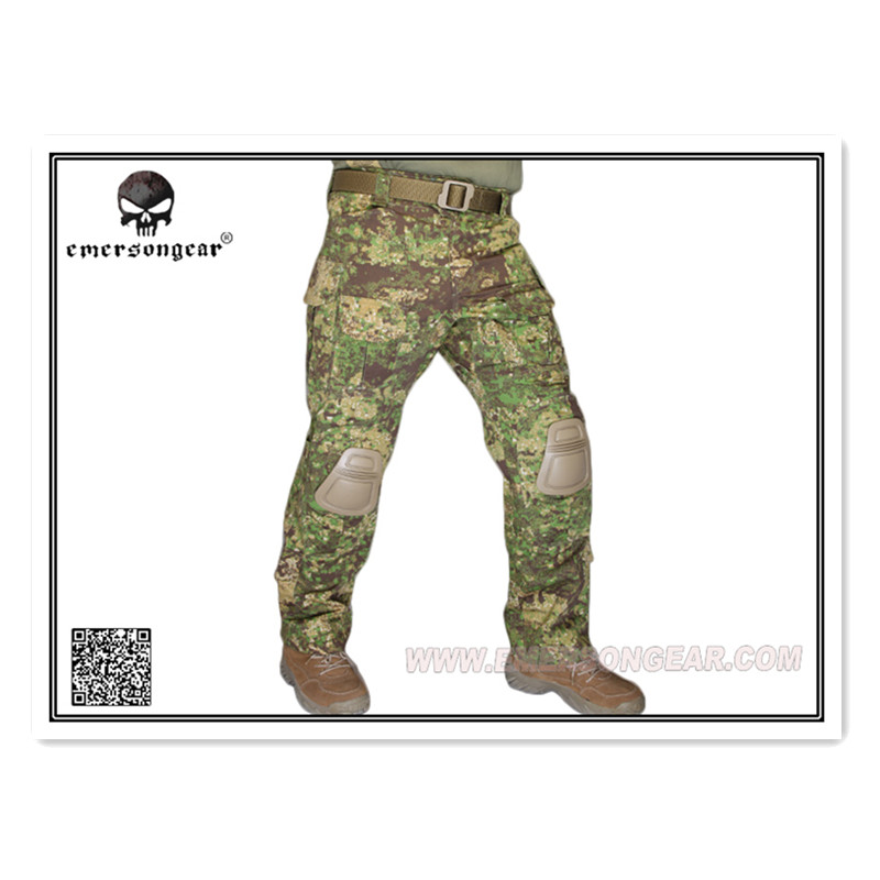 Emerson G3 Tactical Combat training Pants Military Army camouflage with Knee pad EM7039 GZ Greenzone gi army ipfu physical training pants