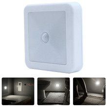 On/Off Battery Operated LED Night Lamp Smart Motion Sensor WC Night light Bedside Lamp For Room Hallway Pathway Toilet