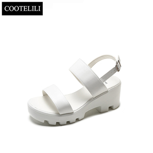 Image 5 - COOTELILI Women Platform Sandals Wedges Summer Shoes For Woman Casual Open Toe Sandles Women Shoes Buckle Sandalias Mujer