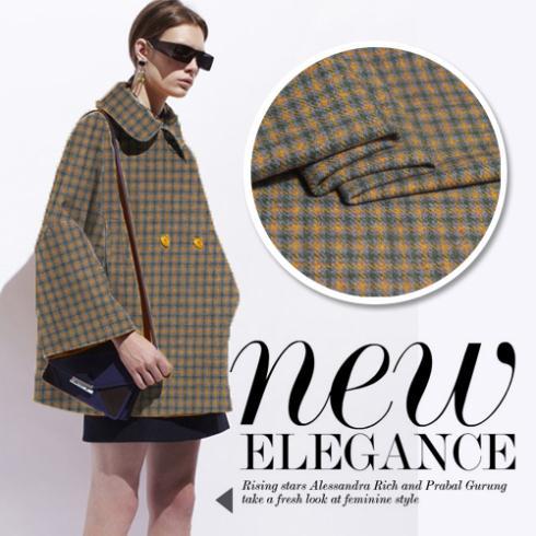 2017 haut d'hiver Haute couture Pure laine plaid prespinning petit ensemble tissu de laine à coudre tissu pour coudre Textile (1 mètre)