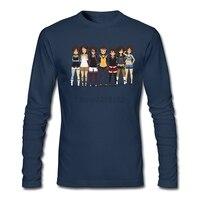 Shameless Self Inserti Mens Navy T Shirt musically maglietta Personalizzata Con Adulto maniche lunghe O-Collo Tops
