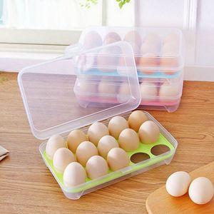 Image 2 - Egg Refrigerator Fresh Box 15 Plastic Egg Rack Kitchen Egg Storage Food Container Efficient Egg Dispenser Storage Box