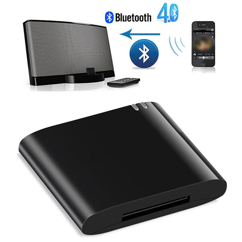 NEUE Lanpice Drahtlose Bluetooth Adapter Stereo Bluetooth 4,1 Music Receiver Audio Adapter für iPhone iPod <font><b>30</b></font> <font><b>Pin</b></font> <font><b>Dock</b></font> Lautsprecher TOP image