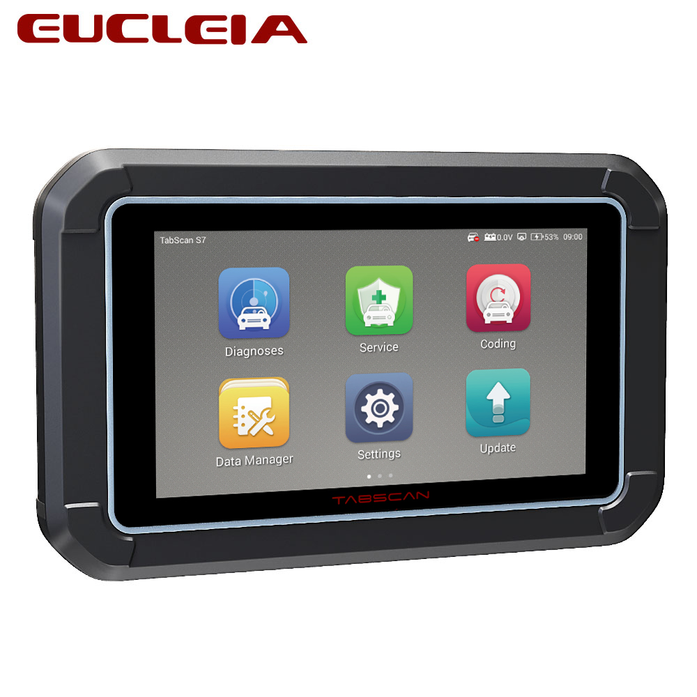 EUCLEIA OBD2 S7C Full System Professional Automotive Scanner Suporte Motor/ABS/Airbag/Transmissão/OBDII Diagnóstico EPB ferramenta