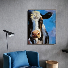 Watercolor Cow Animals Wall Pictures Poster and Print Canvas Painting Calligraphy Decorative Picture for Living Room Home Decor