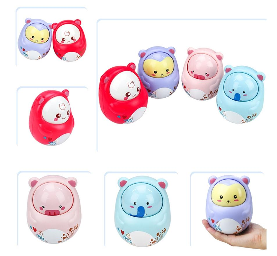 LeadingStar Cute Animals Tumbler Toy Novelty Nodding Doll with Sound Educational Toys for Baby Kids zk25