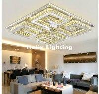 Новое поступление LED Кристалл Потолочные светильники Освещение потолок Лампы для мотоциклов светильники AC110 ~ 240 В Нержавеющаясталь Ясно K9